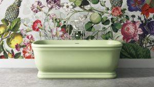 vasca verde chiaro vintage